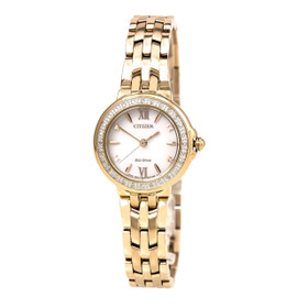 Citizen Women's 'Diamond' Quartz Stainless Steel Casual Watch, Color:Rose Gold-Toned (Model: EM0443-59A)