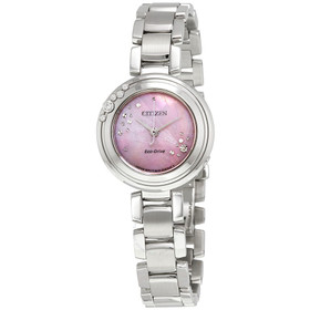 Citizen Women's 'Eco-Drive' Quartz Stainless Steel Casual Watch, Color:Silver-Toned (Model: EM0460-50N)