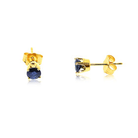 14K Yellow Gold Sapphire Stud Earrings  42002810