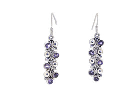 Sterling Silver Amethyst Shepherd Wire hanging Earrings  84210178