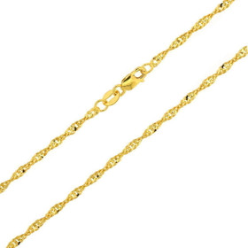 14K 18-inch Yellow Gold Diamond Cut Singapore Chain 30002818