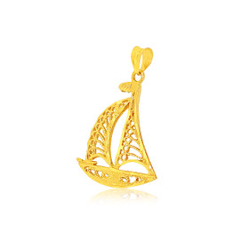 14K Yellow Gold Sailboat Charm 50003266