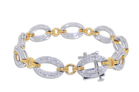 14K Two Tone Gold  Fancy Diamond Bracelet 21000559