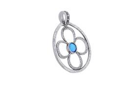 Sterling Silver Opal Flower Charm