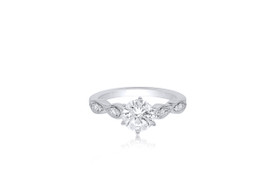 14K White Gold Cubic Zircornia diamond Engagement Ring  12002636