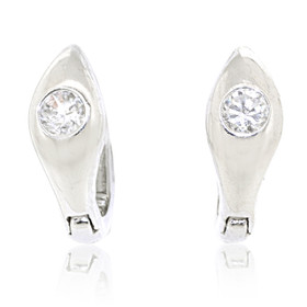 Sterling Silver Cubic Zirconia Huggie Earrings 84010527