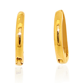 14K Yellow Gold Plain Huggies Earrings 40002354