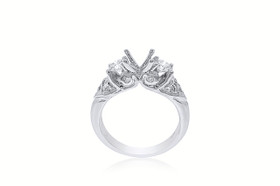 18K White Gold Fancy Diamond Engagement Setting Ring 11005674