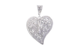 Sterling Silver Heart Filigree Pendant 85010592
