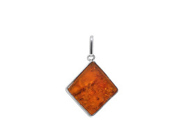 Sterling Silver Amber Fancy Pendant 85210528