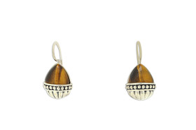 Sterling Silver Tiger Eye Kidney Wire Earrings 85210488
