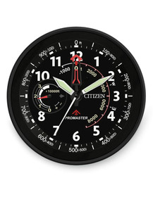 Citizen Gallery Red Accent Wall Clock - Black Dial CC2014