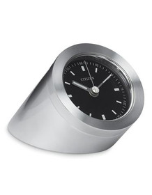 Citizen Workplace Standing Luminescent Clock - Silver-Tone - Black Dial CC1006