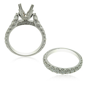 18K White Gold Diamond Engagement Ring Settings 11005833