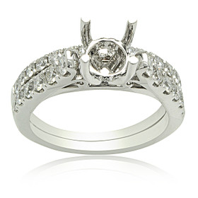 18K White Gold Diamond Engagement Ring Settings 11005831