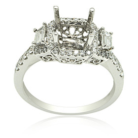 18K White Gold Diamond Engagement Ring Settings 11005824