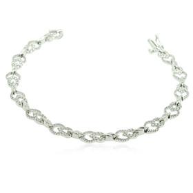 14K White Gold Diamond Link Bracelet 21000594