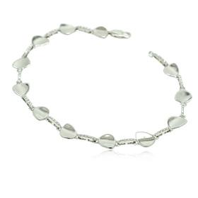 14K White Gold Diamond Heart Bracelet 21000595