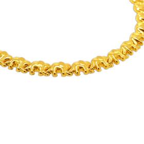 14K Yellow Gold Elephants Necklace 30002910