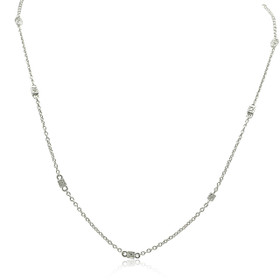 14K White Gold Diamond By the Yard Necklace 31000801
