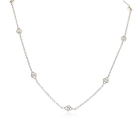 14K White Gold Diamond By Yard  Necklace 31000800