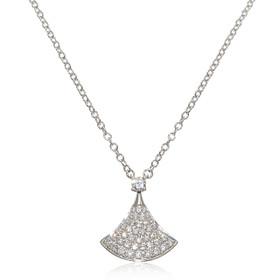 "14K White Gold 18"" Diamond Necklace"
