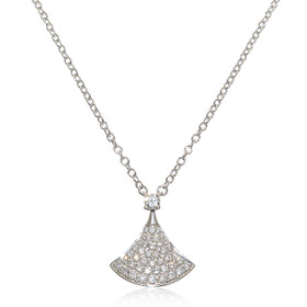 "14K White Gold 18"" Diamond Necklace"