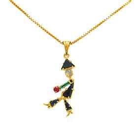 14K Yellow Gold Multistone Onyx Man Charm