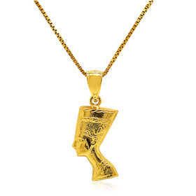 14K Yellow Gold Nefertiti Pendant
