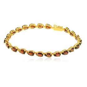 14K Yellow Gold Garnet Bracelet 22000767
