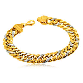 14K Two Toned Gold Link Bracelet