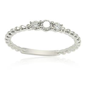 18K White Gold Diamond Band Ring 11005802