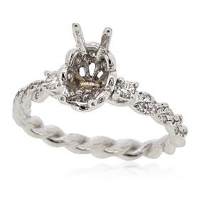 18K White Gold Diamond Engagement Ring Settings 11005875