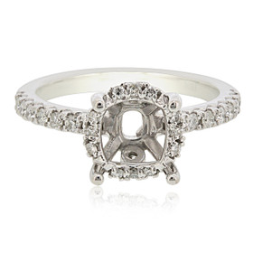 18K White Gold Diamond Engagement Ring Settings 11005879