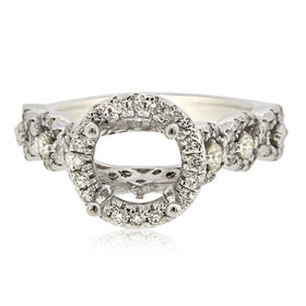 18K White Gold Diamond Engagement Ring Settings 11005878
