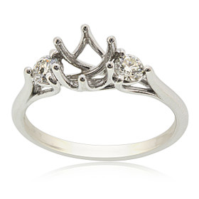 18K White Gold Diamond Engagement Ring Settings 11005881