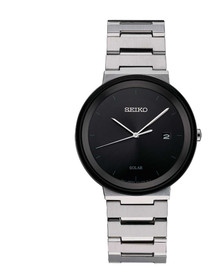 Seiko Men's ' Quartz Stainless Steel Dress Watch, Color:Silver-Toned (Model: SNE479)