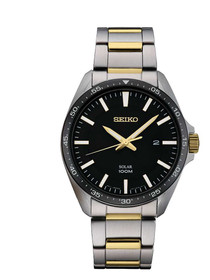 Seiko Men's 'SPORT' Quartz Stainless Steel Dress Watch, Color:Silver-Toned (Model: SNE485)