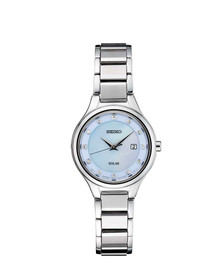 Seiko Women's 'LADIES' Quartz Stainless Steel Dress Watch, Color:Silver-Toned (Model: SUT351)