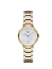 Seiko Women's 'LADIES' Quartz Stainless Steel Dress Watch, Color:Gold-Toned (Model: SUP386)