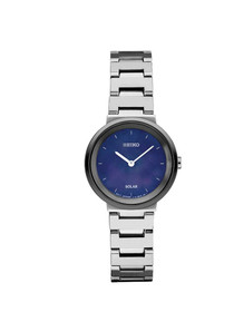 Seiko Women's 'LADIES' Solar Stainless Steel Dress Watch, Color:Silver-Toned (Model: SUP385)