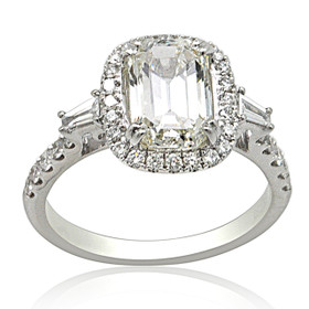 18K White Gold Diamond Engagement Ring 11005888