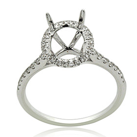 18K White Gold Diamond Engagement Ring Settings 11005890