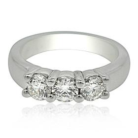 14K White Gold 1. Carat 3 Diamond Wedding Band 11005893