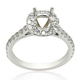 18K White Gold Diamond Engagement Ring Settings 11005905