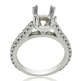 18K White Gold Diamond Engagement Ring Settings 11005918
