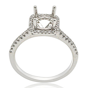 Platinum Diamond Engagement Ring Halo Setting  11005912