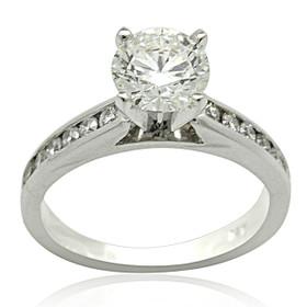 14K White Gold 1 carat Diamond Engagement Ring 11005736