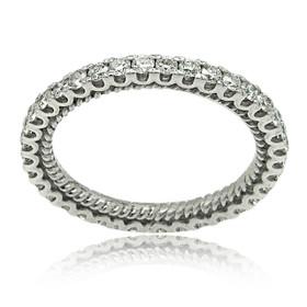 18K White Gold Diamond Eternity Wedding Band 11005942