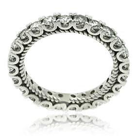 18K White Gold Diamond Eternity Wedding Band 11005941